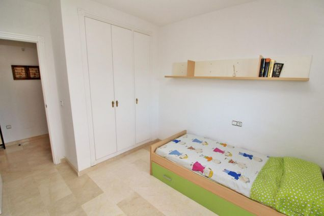 1st bedroom with fitted wardrobes